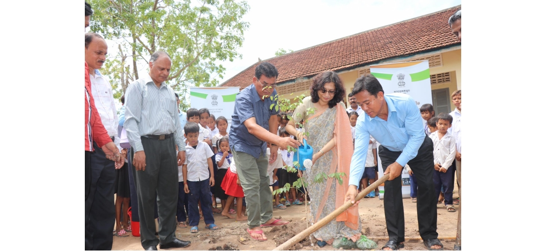 Tree Planting Event In Memory of Mahatma Gandhi´s 150th Birth Anniversary