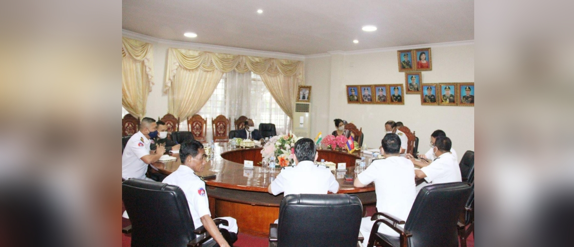 H.E Dr. Devyani Khobragade called on Admiral Tea Vinh, Commander of Cambodian Navy