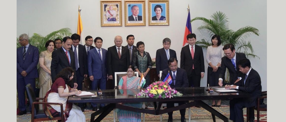 Hon'ble External Affairs Minister Sushma Swaraj paid an official visit to Cambodia