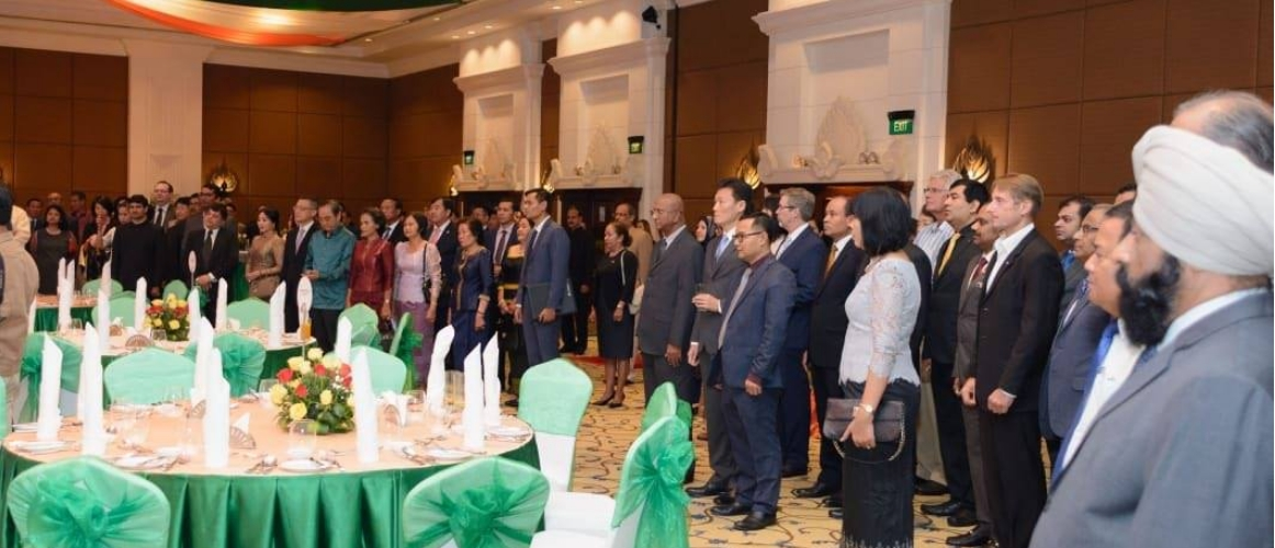 Ambassador Manika Jain hosted a reception on the occasion of 70th Republic Day of India