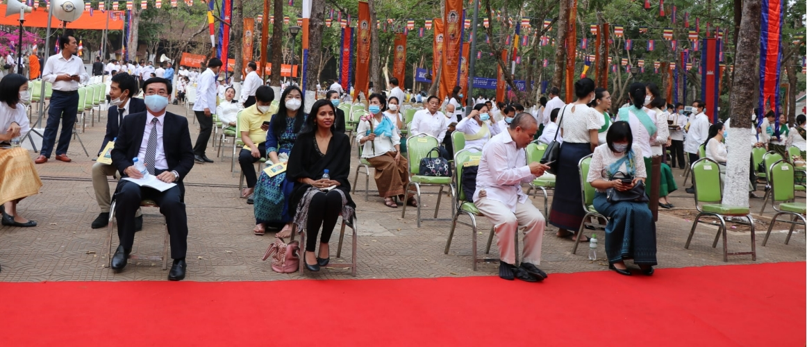 H.E Dr. Devyani Khobragade attended a special ceremony at the Holy Stupa of Sakyamony