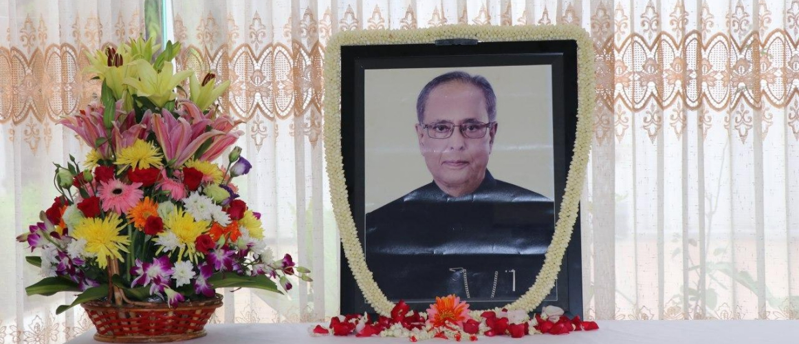 A condolence book was opened on the sad demise of Shri Pranab Mukherjee